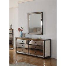 6 Drawer Dresser and Mirror by BestMasterFurniture