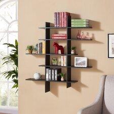 5 Shelf Asymmetric Wall Shelf by Zipcode Design