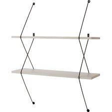 2 Shelf Shelving System with Wire Bracket