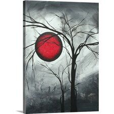 Lunar Moon' by Megan Duncanson Painting Print on Wrapped Canvas  by Great Big Canvas