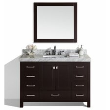 Malibu 61 Single Modern Bathroom Vanity Set with Mirror by Pacific Collection
