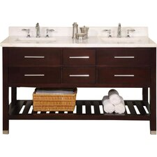 Priva 60 Open Double Bathroom Vanity Base by Empire Industries