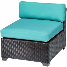 Belle Side Armless Chair with Cushions (Set of 2)