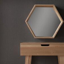 Wooden Hexagonal Mirror