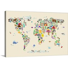 Shop Now Animal Map Of The World by Michael Tompsett Graphic Art