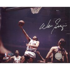 Walt Frazier Lay Up Versus Lakers Autographed Photographic Print