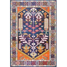 Bendre Purple/Brown Area Rug