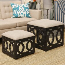 Yarm Mirrored Square Nesting Ottoman by House of Hampton®
