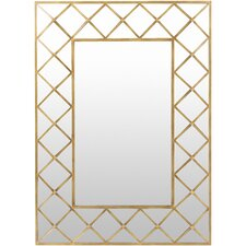 Aged Gold Leaning Mirror