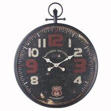 """24"""" Black/Red Metal Clock"""