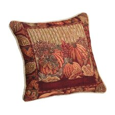 Fall Harvest Pumpkins and Autumn Leaves Pillow Cover
