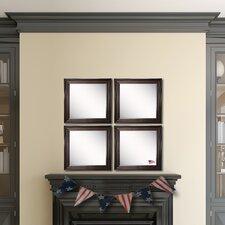 Kavanaugh Walnut American Wood Wall Mirror (Set of 4)
