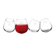 Personalized 12 Oz. Wine Tumbler (Set of 4)