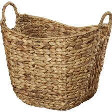 Theroux Tall Water Hyacinth Wicker Basket with Handles