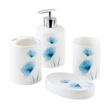 Basic Flower 4-Piece Bathroom Accessory Set