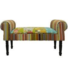 Patchwork Upholstered Bedroom Bench