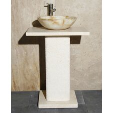 24 Pedestal Bathroom Sink by Allstone Group