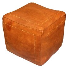 Mouassine Pouf Leather Ottoman by Bungalow Rose
