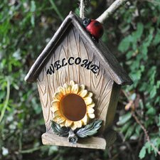 Sunflower Welcome Text Hanging Bird House