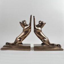 Stretching Cat Bookends (Set of 2)