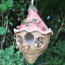 Pink Flower Bulb Hanging Bird House