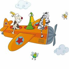 Ludo Friends in Flight Wall Decal by ADZif