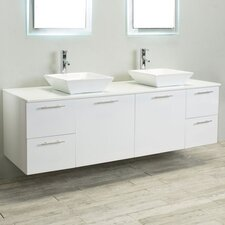 "Luxury 72"" Double Bathroom Vanity"