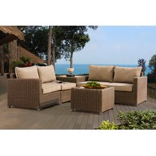 Atchley 4 Piece Deep Seating Group with Cushion by Darby Home Co®