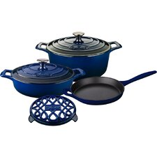Round Enameled Cast Iron 6-Piece Cookware Set