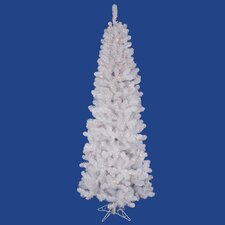 Salem Pencil 5.5' White Pine Artificial Christmas Tree with 200 Dura-Lit Multi-Colored Lights with Stand