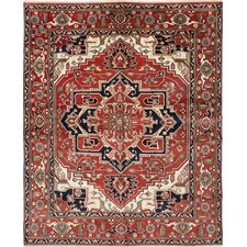 Serapi Heritage Hand-Woven Red Area Rug