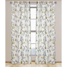 Andi Nature/Floral Semi Sheer Grommet Panel Pair (Set of 2)