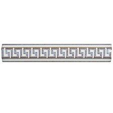 "Essentia 1"" x 5.88"" Listello Trim Tile in Ivory (Set of 6)"
