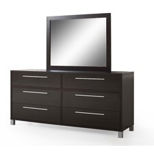 Sibley 6 Drawer Dresser with Mirror