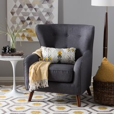 Baxton Studio Sabrina Upholstered Wingback Chair by Wholesale Interiors