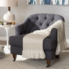 Baxton Studio Marta Upholstered Barrel Chair by Wholesale Interiors