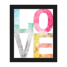 Love Stacked Framed Textual Art on Canvas  by Click Wall Art