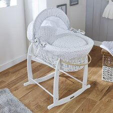 Stars and Stripes Wicker Moses Basket
