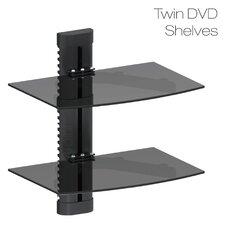 Double Glass TV Shelf