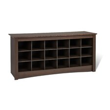 Sybil Wood Storage Entryway Bench