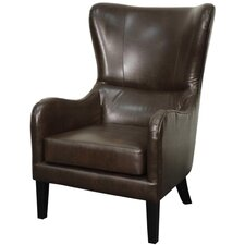 Glendale Bonded Leather Wing back chair by New Pacific Direct