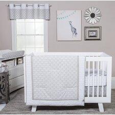 Art Deco 3 Piece Crib Bedding Set