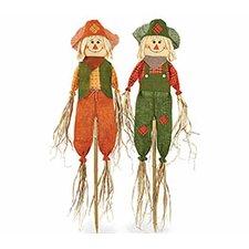 2 Piece Scarecrow Décor Set