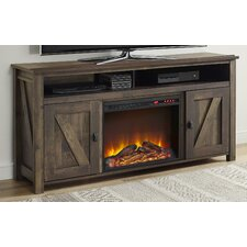"Gilby 60"" TV Stand with Electric Fireplace"