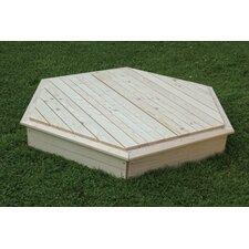 Sechseckiger Sandkasten 160 cm x 160 cm