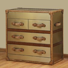 Acadia 4 Drawer Steamer Chest by Lazzaro Leather
