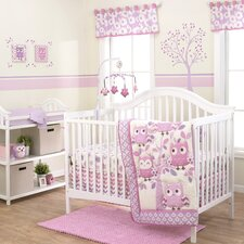 Dancing Owl 3 Piece Crib Bedding Set