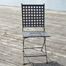 Emilio Folding Dining Side Chair Set with Cushion (Set of 2)