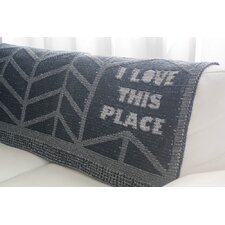 I Love This Place Throw Blanket