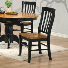Courtdale Back Solid Wood Dining Chair (Set of 2)